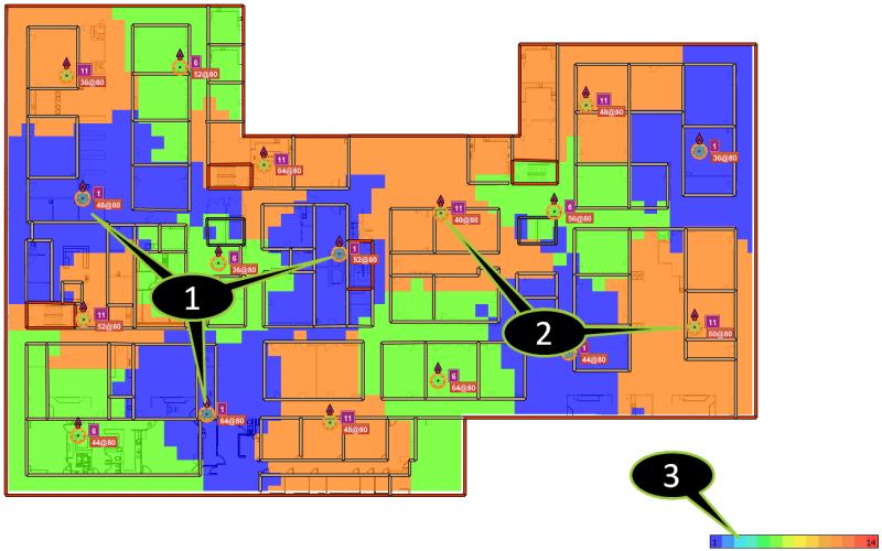 channel coverage heatmap