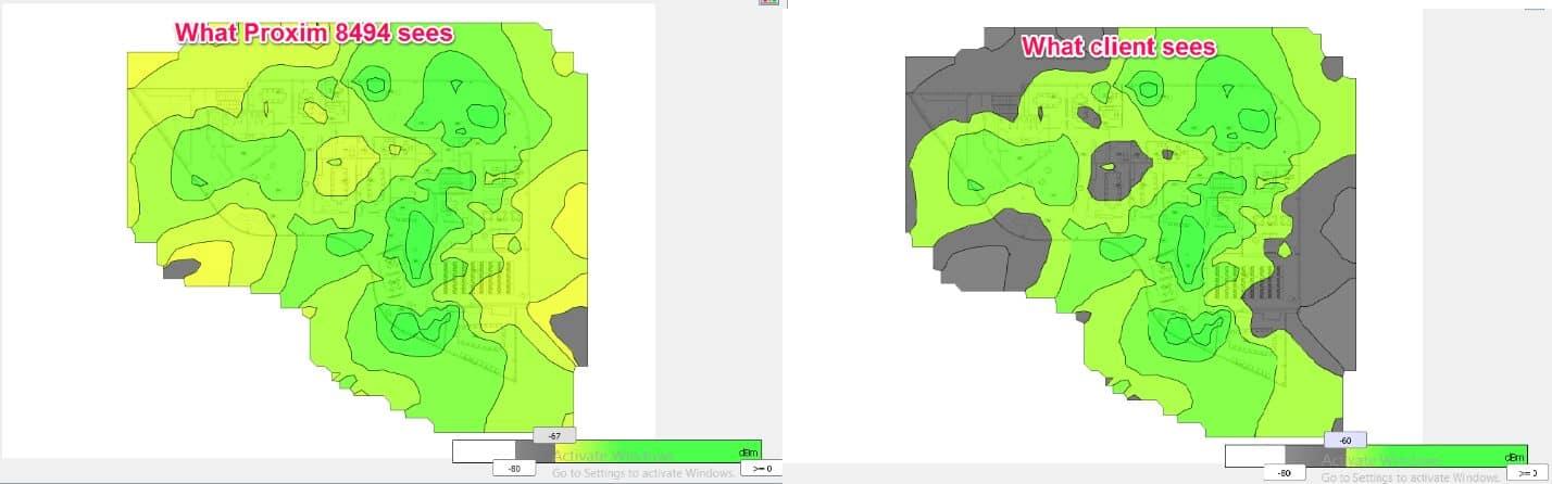 Figure 7 - Client vs survey NIC view